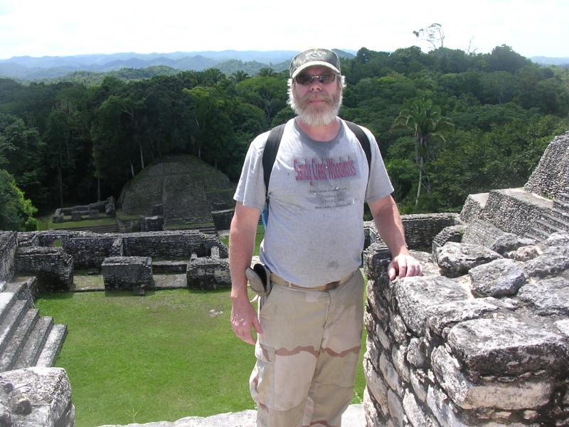 on top of caana (sky place)  ,Caracol ,  Belize